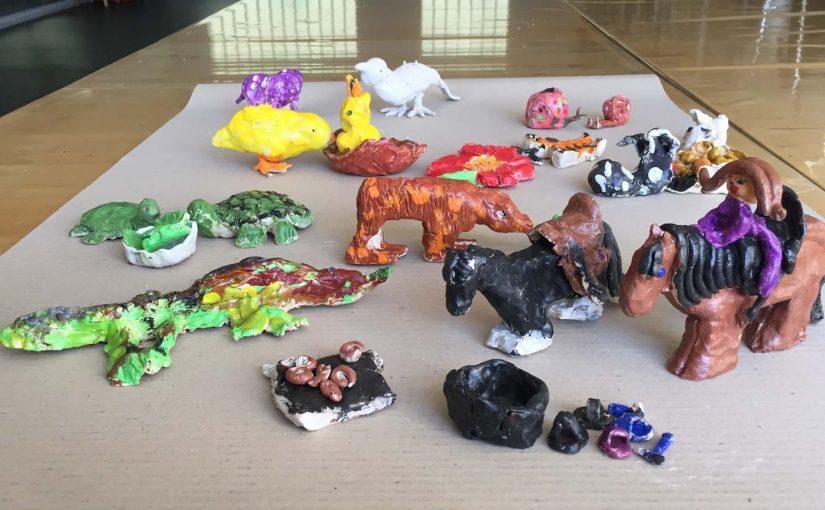 Kunst 10: Kleurrijke speeltuin/zacht pastel