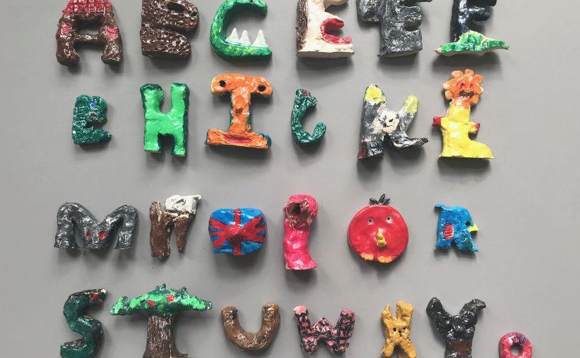Kunst 4: Het klei alphabet / deel 2