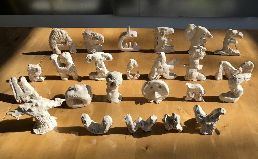 Kunst 2: Het klei alphabet / deel 1