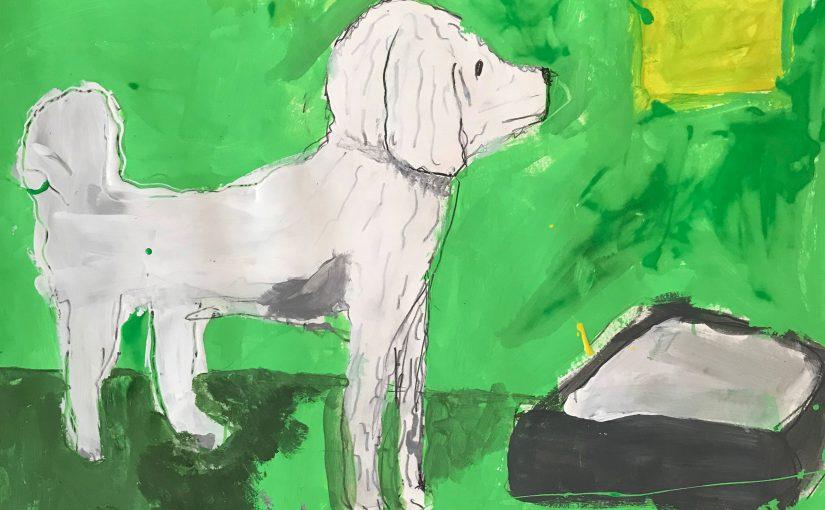 Kunst 7: De labradoodle Tijs tekenen