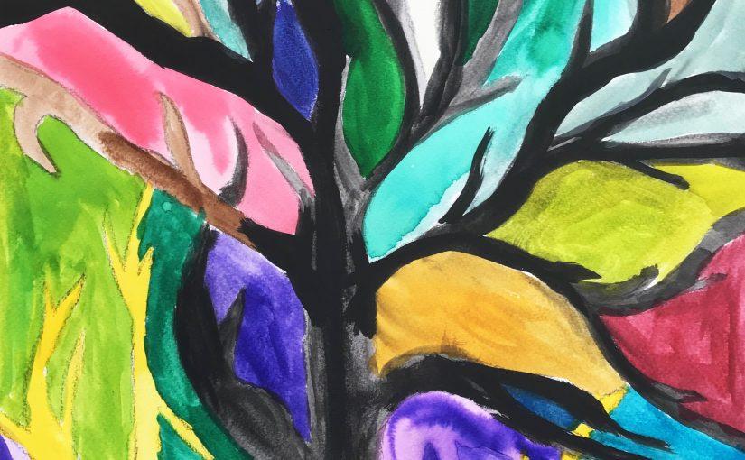 Kunst 6: Bomen buiten tekenen
