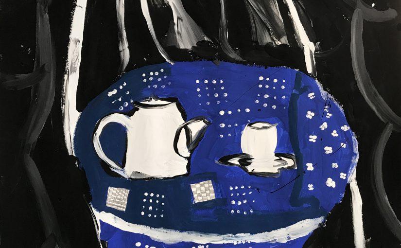 Kunst 3: Stilleven met een blauwdrukstof